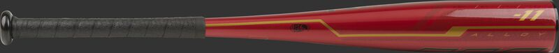 UTZQ11 Rawlings USSSA -11 Quatro Pro bat with a red barrel and gold accents
