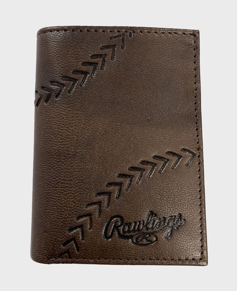 Debossed Stitch Tri-Fold Wallet