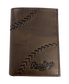 Debossed Stitch Tri-Fold Wallet image number null