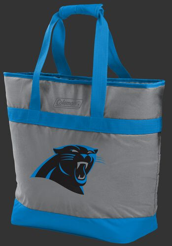 Rawlings Carolina Panthers 30 Can Tote Cooler In Team Colors With Team Logo On Front SKU #07571090111