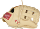 """Thumb of a Gameday 57 Series DJ LeMahieu Pro Preferred glove with a gold """"Oval-R"""" and camel H-web - SKU: PROSNP4-DJ26 image number null"""