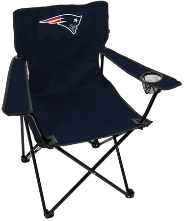 NFL New England Patriots Gameday Elite Chair with team colors and logo on the back