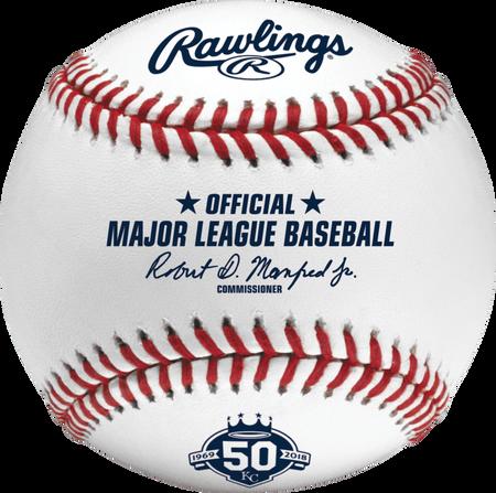 MLB 2018 Kansas City Royals 50th Anniversary Baseball