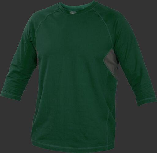 Adult 3/4 Length Sleeve Shirt Dark Green
