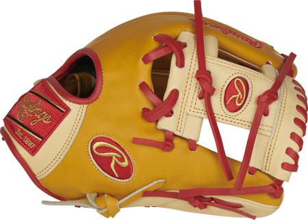 Thumb of a butterscotch PROFL12-BU Heart of the Hide 11.5-Inch infield glove with a camel I-web