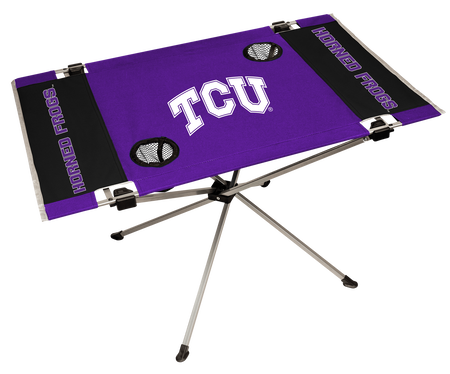NCAA TCU Horned Frogs Endzone table featuring team colors and team logos