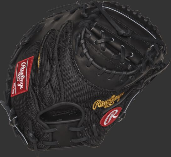 PROYM4 Yadier Molina Game Day model catcher's mitt with a black mesh back