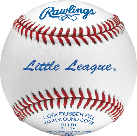 RLLB1 Little League youth competition grade baseball with raised seams