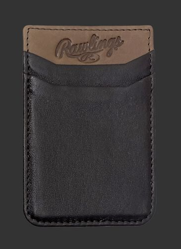 A brown Rawlings leather phone card holder with 2 card slots - SKU: R090007-200