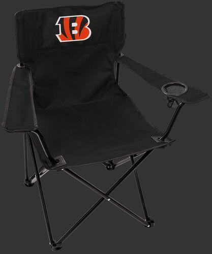 Front of Rawlings Black NFL Cincinnati Bengals Gameday Elite Chair With Team Logo SKU #00551063111
