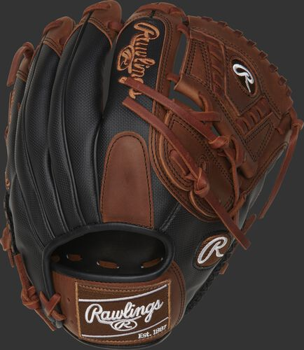 PRO205-30TISS 11.75-inch Heart of the Hide ColorSync infield/pitcher's glove with a black Speed Shell back and brown ColorSync patch