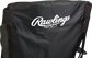 Black back of a Rawlings high back fold-up chair with a white Rawlings logo at the top - SKU: 00184043511 image number null