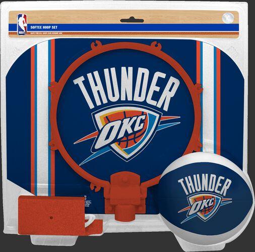 Rawlings Blue and Orange NBA Oklahoma City Thunder Softee Hoop Set With Team Logo SKU #03545053114