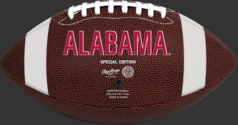 Brown NCAA Alabama Crimson Tide Football With Team Name SKU #04623066811