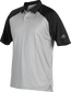 A gray Rawlings colorsync polo with black sleeves - SKU: CSP-BG/B image number null