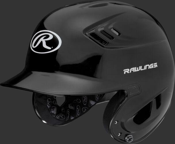 A metallic black R16S Velo senior batting helmet with Cool-Flo vents
