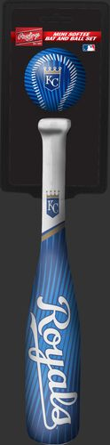 Rawlings Kansas City Royals Softee Mini Bat and Ball Set in Team Colors With Team Name and Logo On Front SKU #01160026114