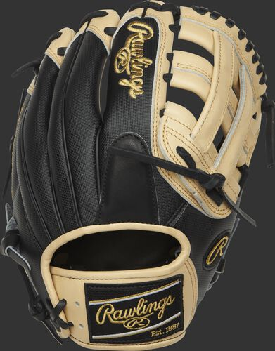 PRO205-6BCSS Heart of the Hide 11.75-inch H web glove with a black Speed Shell back