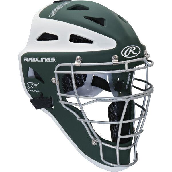 Velo Youth Catchers Helmet Dark Green/White
