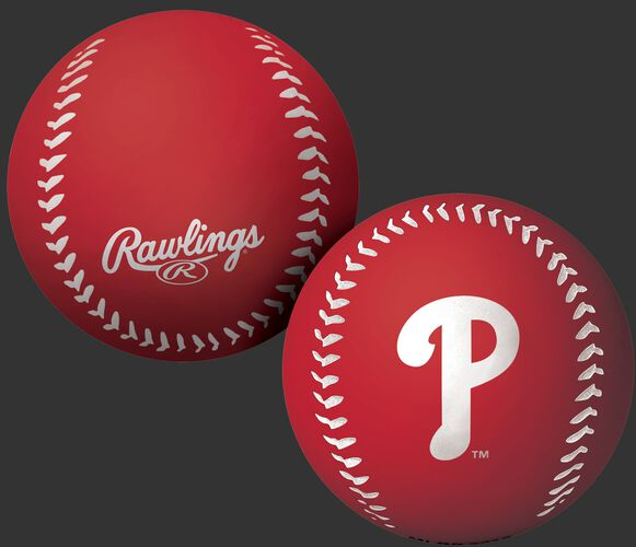 Rawlings Philadelphia Phillies Big Fly Rubber Bounce Ball With Team Logo on Front In Team Colors SKU #02870020112