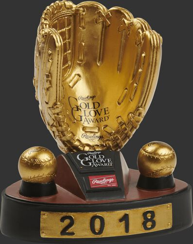 2018 Gold Glove Award Bobble Trophy
