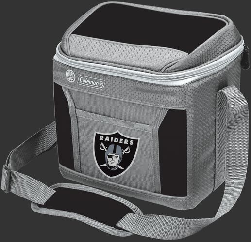 Rawlings Oakland Raiders 9 Can Cooler In Team Colors With Team Logo On Front SKU #03281072111
