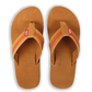 Top of Rawlings Men's Baseball Stitch Nubuck Brown Leather Sandals With Red Baseball Stitch and Brand Name SKU #P-RF50000-204 image number null