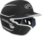 Right angle view of a matte black/white MACHEXTR Mach Junior helmet with Mach EXT left hand batter face guard extension image number null