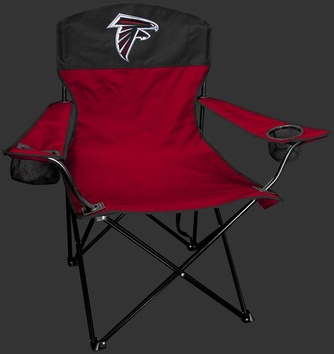 Front of Rawlings Red and Black NFL Atlanta Falcons Lineman Chair With Team Logo SKU #31021060111