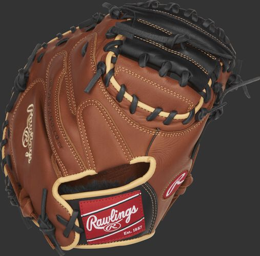 SCM33S 33-inch Rawlings Sandlot Series catcher's mitt with a brown back