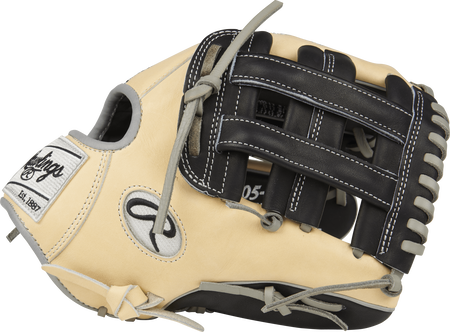 Thumb view of a PRO205-6BCZ Heart of the Hide ColorSync infield glove with a black H web