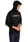 A man wearing a black Rawlings performance hoodie with the hood up over his head - SKU: RSGLH-B image number null