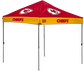 A Kansas City Chiefs 10' x 10' straight leg canopy image number null
