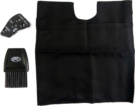 UBBD Black Umpire accessory set with a ball bag, home plate brush and 4-dial indicator