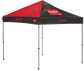 A red/black Rawlings 9x9 canopy with a red Rawlings patch on one side - SKU: 04034043511 image number null