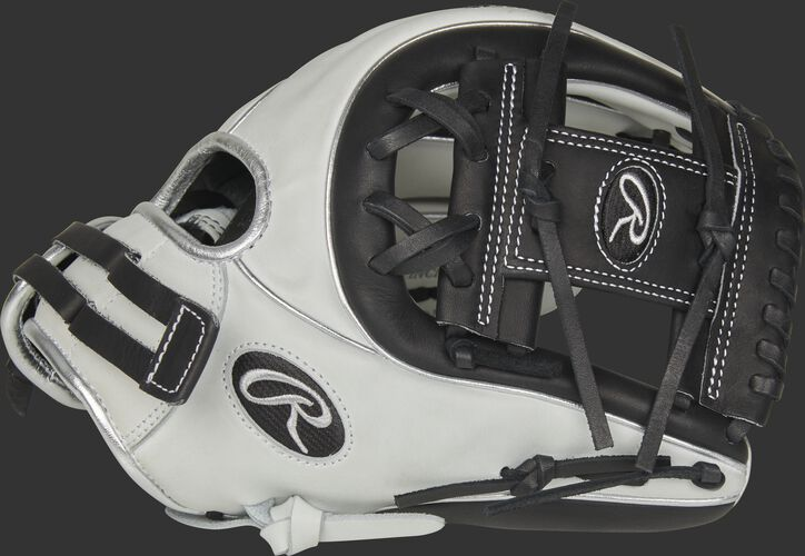 Thumb of a white RLA715SB-2BP Liberty Advanced Color Series 11.75-inch infield glove with a black I-web