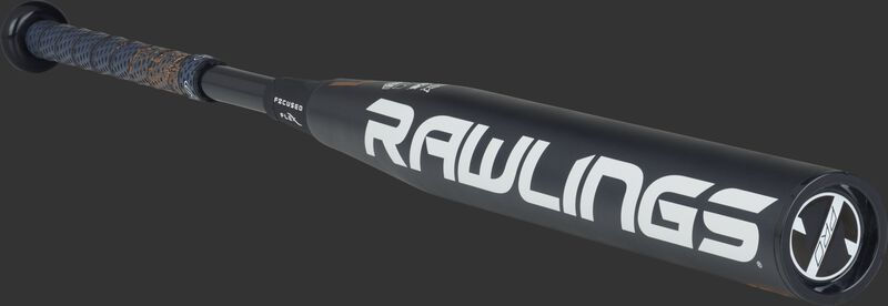 FPZP10 Rawlings fastpitch bat with a black barrel and black end cap