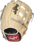 PRO3039-6CBFS 12.75-inch Heart of the Hide outfield glove with a camel back and white binding/welting image number null