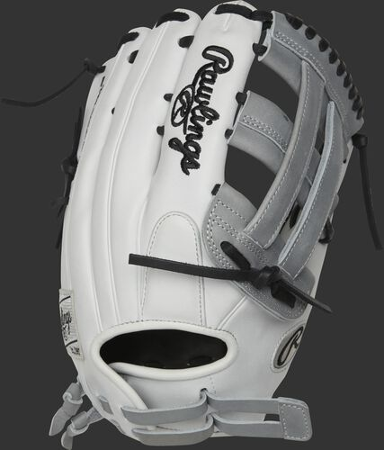 PRO1275SB-6WG 12.75-inch Heart of the Hide Softball outfield glove with a white back and Pull Strap design