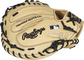 Camel Speed Shell back of a HOH ColorSync 5.0 catcher's mitt with a black Rawlings logo and MLB logo on the pinky - SKU: PROCM43CBG image number null