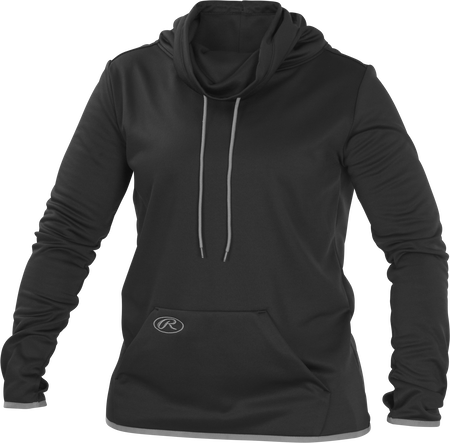 Black WPFF Women's funnel neck fleece pullover