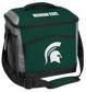 A green Michigan State Spartans 24 can soft sided cooler with screen printed team logos - SKU: 10223038111 image number null