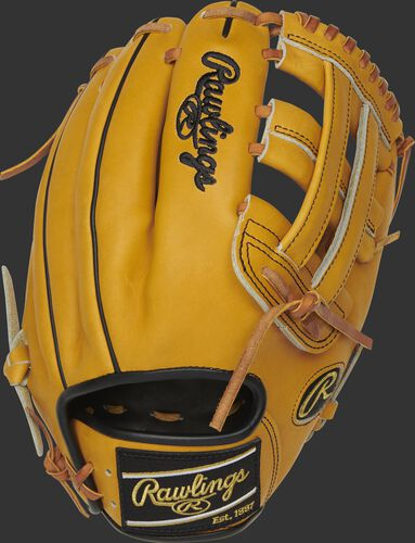 PRO206-6BU 12-Inch Heart of the Hide H-web glove with a butterscotch back and black Rawlings patch