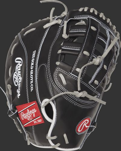 PROTM8SB-17BG 12.5-inch Heart of the Hide softball first base mitt with a black back