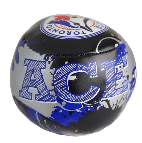 Top of Rawlings Toronto Blue Jays Quick Toss 4'' Softee Baseball With Team Mascot Name On Front In Team Colors SKU #01320004112