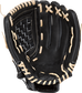 RSS130C Rawlings Softball Series 13-inch recreational glove with a black palm and camel laces image number null