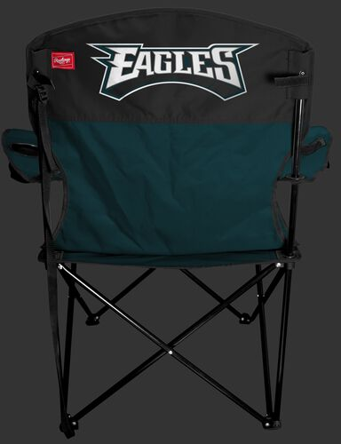 Back of Rawlings Green and Black NFL Philadelphia Eagles Lineman Chair With Team Name SKU #31021080111
