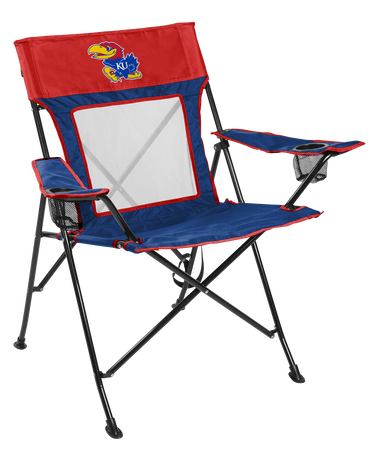 NCAA Kansas Jayhawks Game Changer chair with the team logo