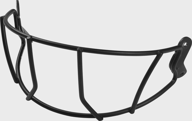 A black MACHWG Mach series batting helmet facemask SKU #P-MACHWG