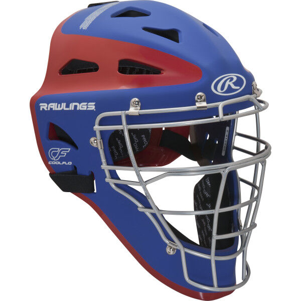 Velo Youth Catchers Helmet Royal/Scarlet
